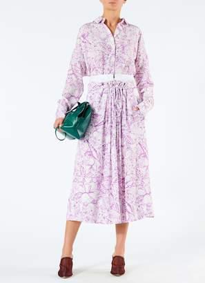 c8cc1247556bf Tibi Silk Isa Toile Double Waist Overlay Skirt