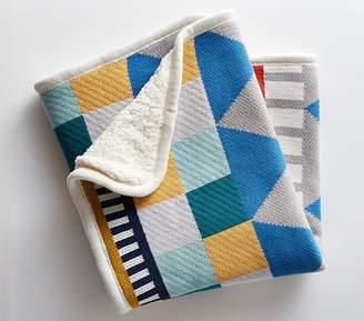 Pottery Barn Kids west elm x pbk Knit Cotton Geometric Blanket