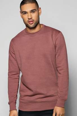 boohoo Lightweight Basic Crew Neck Sweatshirt