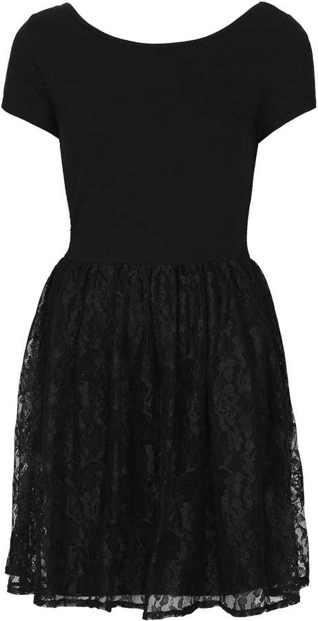 Topshop Lace Flippy Dress