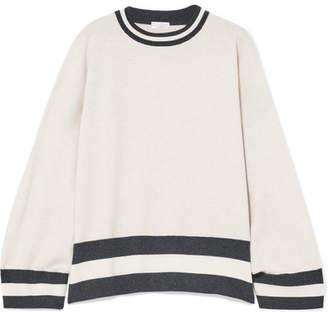 Brunello Cucinelli Oversized Striped Cashmere Sweater - Cream