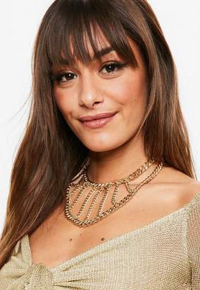 Missguided Gold Thick Chain Choker