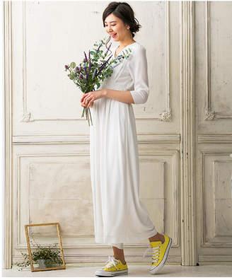 Chaco form forma 【結婚式・ウェディングドレス】troisieme ウェストマーク シフォンスリーブウェディングパンツドレス