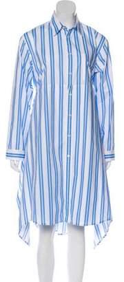 Balenciaga 2016 Striped Shirtdress