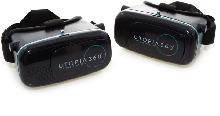 2-pack of ReTrak Utopia 360-Degree Virtual Reality Headsets with App Packs