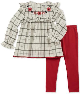 Kids Headquarters Baby Girls 2-Pc. Plaid Ruffle-Trim Tunic & Leggings Set