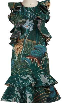 Kenzo Printed flowers short dress with ruffles