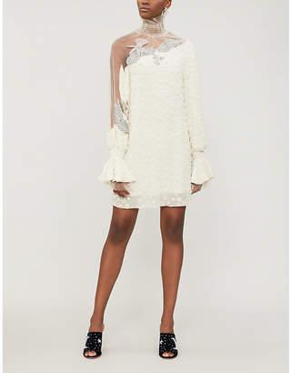 ALENA AKHMADULLINA Bead-embellished silk mini dress