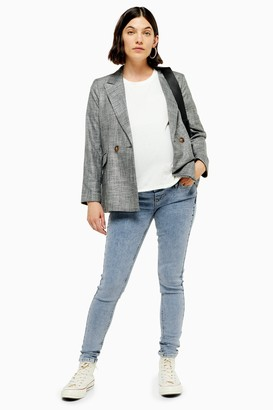 Topshop Womens **Maternity Over The Bump Jamie Jeans - Bleach Stone