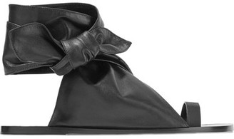 Isabel Marant - Maheo Leather Sandals - Black $740 thestylecure.com