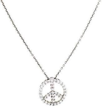 Roberto Coin 18K Diamond Tiny Treasures Peace Sign Pendant Necklace
