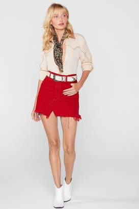 Nasty Gal After Party Vintage One More Mini Denim Skirt