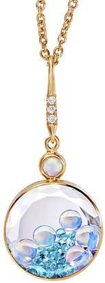 Moritz Glik Pariaba Tourmaline, Opal and Diamond Shaker Necklace