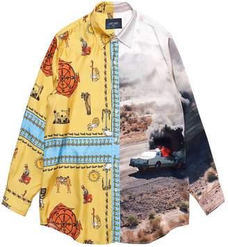 Buttoned Down Lost Daze LOST DAZE double print shirt