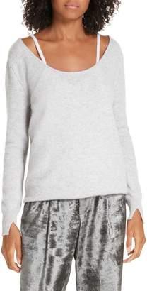 Brochu Walker Mabel Layered Look Cashmere Sweater