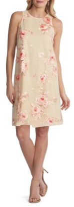 Women's Eci Embroidered Shift Dress $98 thestylecure.com