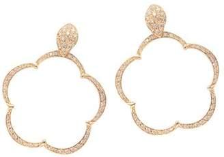 Pasquale Bruni 18K Rose Gold Bon Ton Ton Joli Diamond & Champagne Diamond Floral Earrings