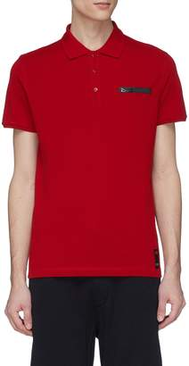 Fendi Sport 'Bag Bugs' tape polo shirt