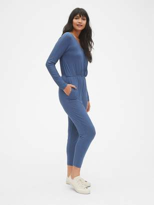 Gap Long Sleeve Wrap Jumpsuit