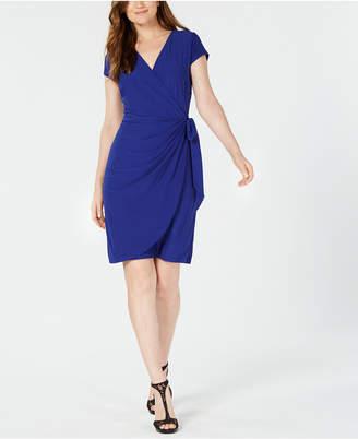 INC International Concepts I.n.c. Cap-Sleeve Faux-Wrap Dress, Created for Macy's