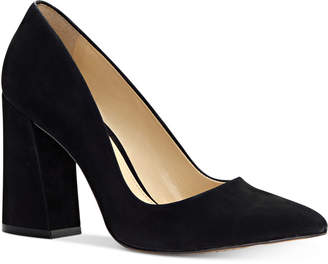Vince Camuto (ヴィンス カムート) - Vince Camuto Talise Pointed Block-Heel Pumps Women's Shoes
