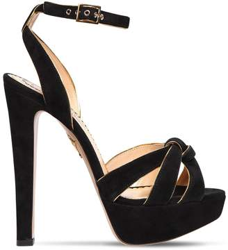 Charlotte Olympia 140mm Suede Platform Sandals