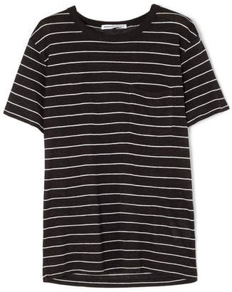 Alexander Wang Striped Slub Jersey T-shirt - Black