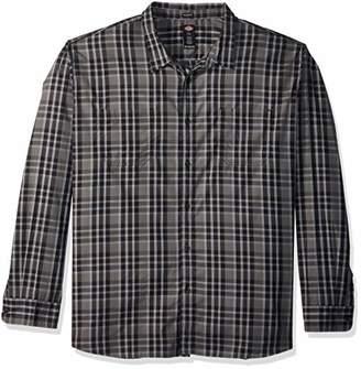 Dickies Men's Long Sleeve Relaxed fit Yarn dye Plaid Shirt Big-Tall