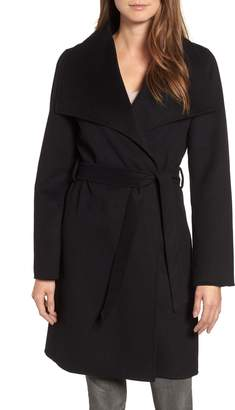 Tahari Ellie Double Face Wool Blend Wrap Coat