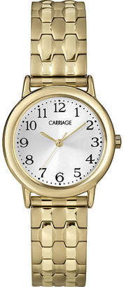 Timex CARRIAGE BY Carriage by Womens Gold-Tone Stainless Steel Expansion Bracelet Watch C3C7459J