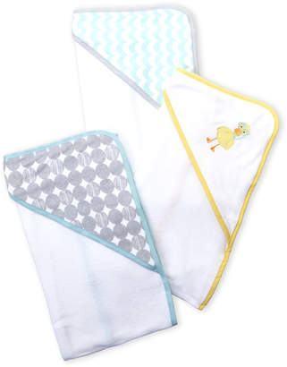 Luvable Friends Newborn/Infant) 3-Pack Hooded Towels