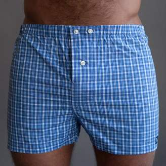 Blade + Blue Pale Blue & White Plaid Boxer - Billy