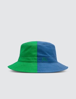 J.W.Anderson Green & Blue Color-blocked Bucket Hat