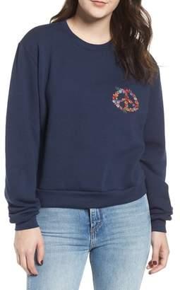 Sub Urban Riot Sub_Urban Riot Natasha Floral Peace Sweatshirt