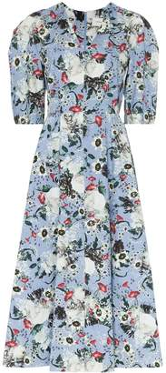 Erdem Cressida floral print midi dress