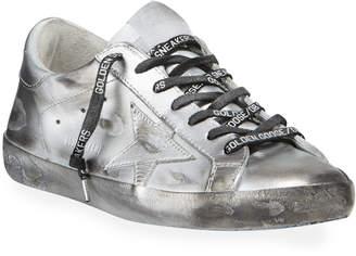 Golden Goose Men's Superstar Metallic Leather Sneakers