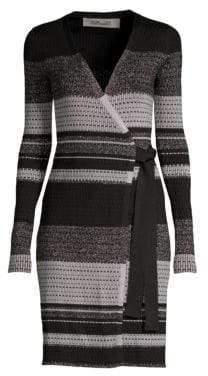 Diane von Furstenberg Stripe Wrap Dress