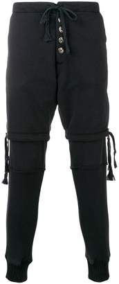 Greg Lauren Hybrid track pants