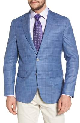 David Donahue Arnold Classic Fit Plaid Wool Blend Sport Coat