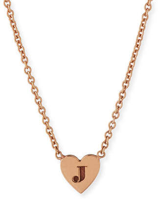 Chicco Zoe 14K Tiny Heart Initial Pendant Necklace