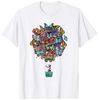 Butterfly Balloon Girl Graphic T-Shirt & Design