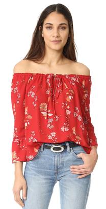 BB Dakota Soho Off the Shoulder Top $80 thestylecure.com