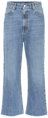 Alexander McQueen Cropped mid-rise jeans