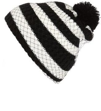 Women's Cara Pompom Knit Beanie - Black $32 thestylecure.com