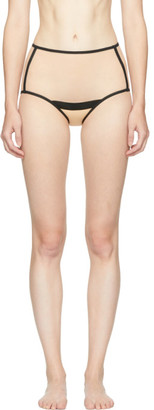 YASMINE ESLAMI Beige Serena High-Waisted Briefs