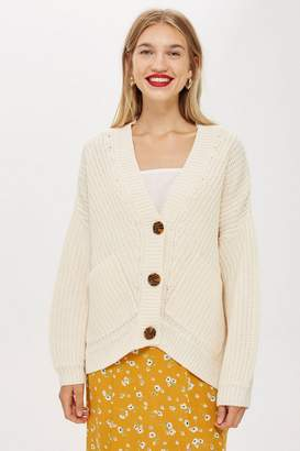 Topshop Deflected Ribbed Cardigan