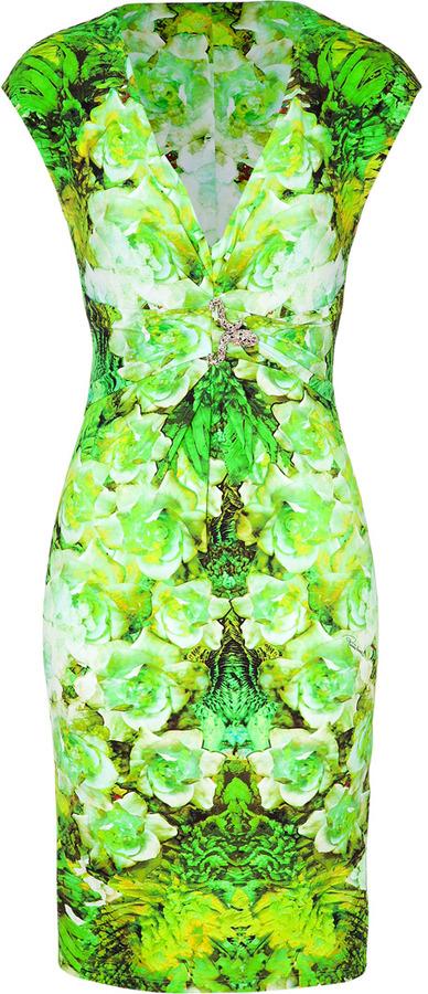 Roberto Cavalli Lemon/Apple Floral Dress