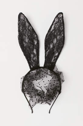 H&M Hairband with Rabbit Ears - Black