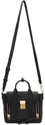 3.1 Phillip Lim Black and Gold Mini Pashli Satchel