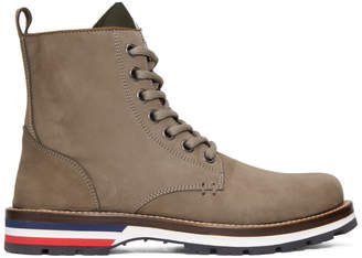 Moncler Grey Suede New Vancouver Boots